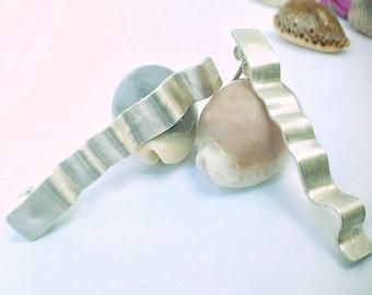 Long waves earrings. Made of sterling silver 925