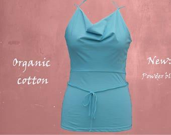 organic cotton top, camis biological cotton, singlet certified cotton, tank top GOTS cotton