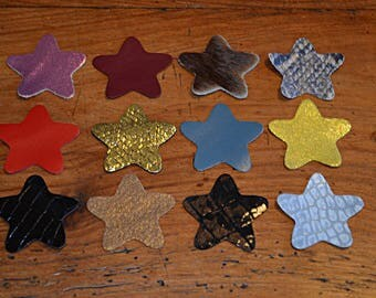 Set of stars (9038524) cow and lamb leather