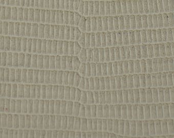 Coupon printed beige lizard (8994184) goat leather