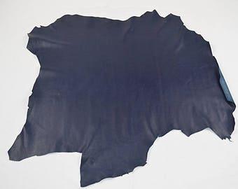 Navy Nappa Sheepskin Leather (2017081024)