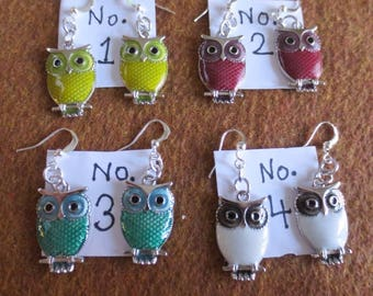 Owl earrings, you pick which one you want!