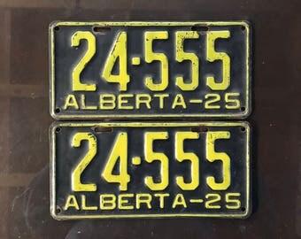 1925 Alberta license plates