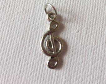 Treble clef pendant