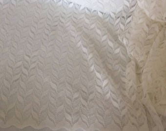 Sheer lace has the old beige width approximately 280