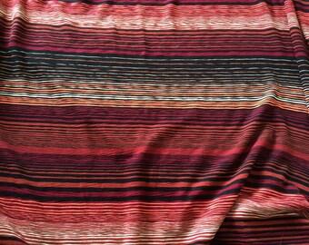 Width 165 cm striped knit fabric
