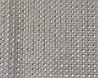 Rhinestone Ribbon 24 line plastic 12 mm in width