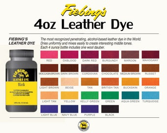 New Fiebing's Leather Dye w/ Applicator USA Made 28 COLORS 4 OZ Bottles