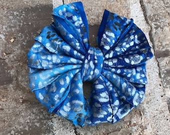 Blue Cheetah Ruffle Mini