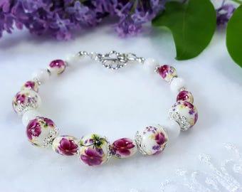 Multicolored porcelain bracelet UNIQUE#5