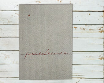 Christmas card - handwritten communication
