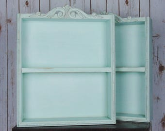 Shabby Chic Single Tall Shelf Multiple Colors