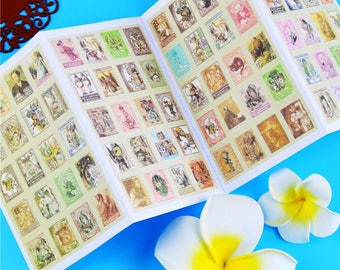 80 stickers stickers stamps vintage Alice in the Wonderland (Lewis Carroll) - scrapbooking, cardmaking