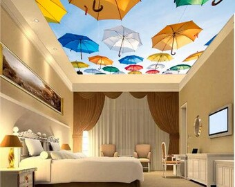 Umbrella wallpaper ceiling, ceiling abstract, ceiling nebula wallpaper, color ceiling wallpaper, ceiling star wallpaper, umbrella ceiling,