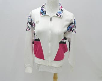 ASICS Track Top Vintage 90's RRR Recorder By Asics Multicolor Made In Japan Track Top Zipper Jacket Women Size Jaspo M