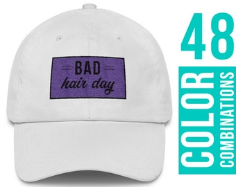 Bad Hair Day Hat White Bad Hair Day Cap Bad Hair Day Baseball Hat Bad Hair Day Baseball Cap Bad Hair Day Dad Hat Bad Hair Day Trucker Hat