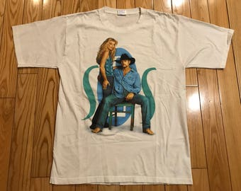 Vintage Faith Hill Tim Mcgraw Concert T shirt 2000' SOS Tour XL Unisex Soul to soul country music tee