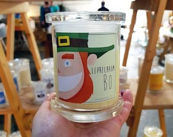 Leprechaun B.O Soy Candle Australia Gardenia Garden Scented Fragranced Funny Novelty