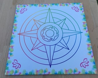 The Compass Crystal Grid Intention Board