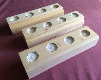 Customize wooden candle holders