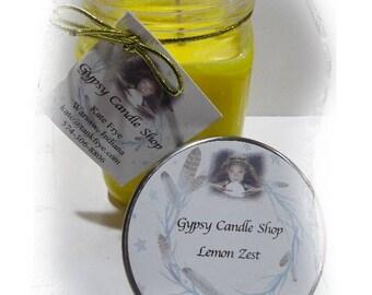 Lemon Zest   Soy Candle