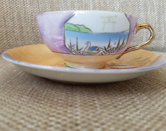 Beautiful Made In Japan Cup And Saucer
