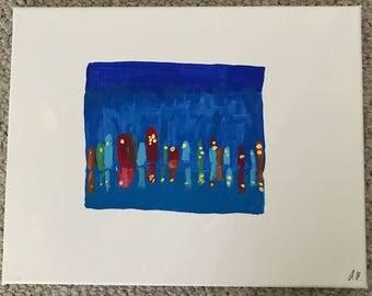 Painting: 'City at Night'