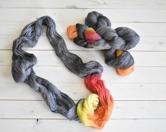 Firepit - Hand Dyed Yarn - Baby Alpaca Silk Lace Weight Yarn - Twisted Fiber Shop