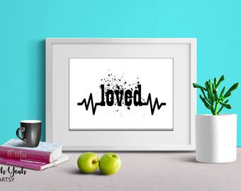 Splattered Loved Art Print