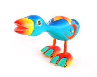 Wooden Blue Duck
