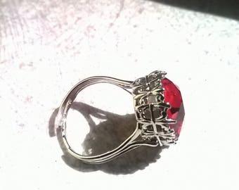 """""""Swarovski crystal"""" ring"""