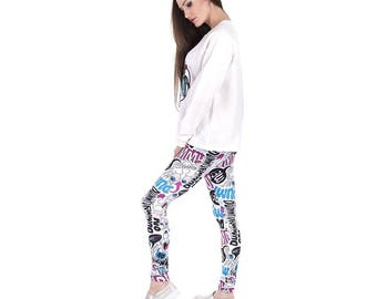 Dummy doodle custom leggings