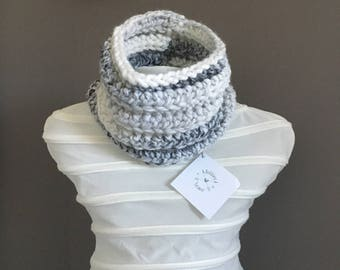 Ready to ship - Marble Toddler Chunky Cowls, Crochet Cowl, Kids Cowl, Kids Scarf, Baby Cowl, Girls Cowl, Boys Cowl, Infinity Scarf,