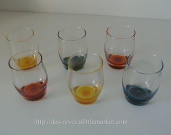 Colorful set of six glasses - 6 glasses