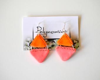 Orange and Pink Triangle Dangles
