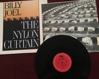 Billy Joel- The Nylon Curtain- LP Vinyl Record 1982- Vintage- 80s Pop Rock