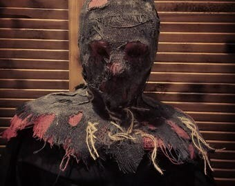 the executioner scarecrow scary halloween mask