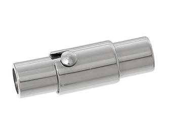 10 stainless steel Magnet close/magnet closures, cylinder, 17 x 6 mm
