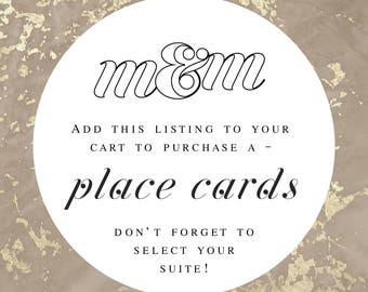 Place Card in Desired M&M Wedding Suite