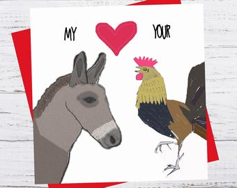 Love Handles - Ass loves your cock - Valentine's Day Card - romance birthday greeting funny