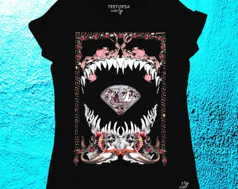 DIAMOND SHARK- t-shirt donna