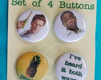 """Psych  (Set of 4) 1"""" Button or Magnet"""