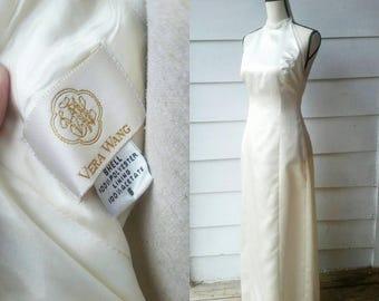 1990s Vera Wang Wedding Dress || Ivory || Small