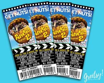 The Nut Job Invitation, The Nut Job Birthday, The Nut Job Party, The Nut Job 2 Movie Pass, The Nut Job Birthday Party Ticket, The Nut Job 2