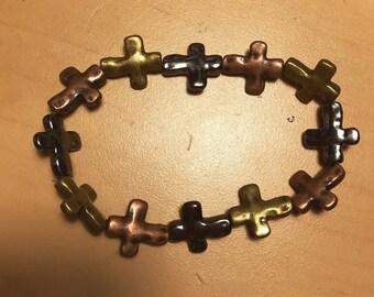 Rustic Cross Bracelet