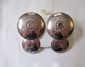 Sterling silver disk earring #10113