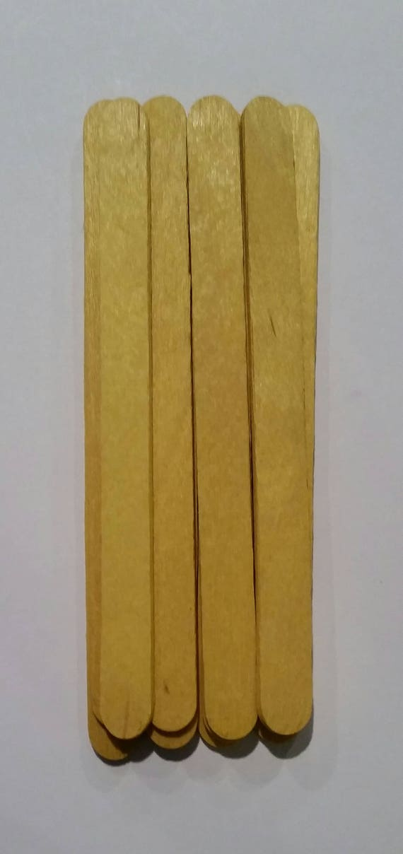 Popsicle Sticks 24 Dyed Popsicle Sticks 24 Yellow Popsicle