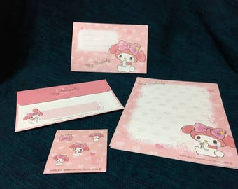 sanrio my melody kyun kyun letter set from japan