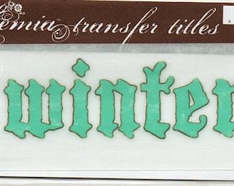 Winter Title Rub On Transfer Embellishments Cardmaking Crafts My Mind's Eye Bohemia