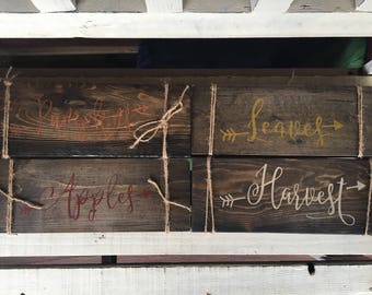 FALL DECOR/FALL Wood Sign Collection/Thanksgiving Wood Signs/Thanksgiving Home Decor/Fall Home Decor/Pumpkins/Apples/Harvest
